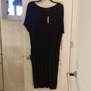 Banana Republic Black Midi Dress w Pockets, Sz L